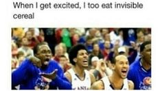 I too eat invisible cereal when I get excited