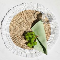 Make every meal special with beautiful and fun table accessories designed for everyday use. Shop Vern Gern Home for table settings you can mix and match to fit your style. Colorful Cocktails, White Rope, Mild Soap, Twine, Rattan, Hand Weaving, Recycling, Entertaining, Texture