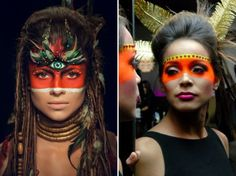 Maquiagem fantasia índia