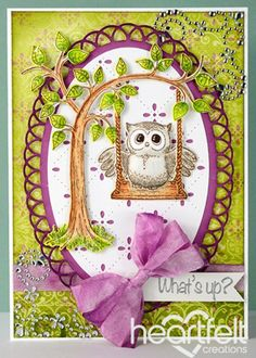 Heartfelt Creations | What's Up Owl Swinging