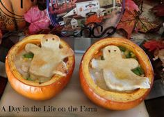 A Day in the Life on the Farm: Pumpkin Chicken Pot Pie for your Little Goblins~~#PumpkinWeek