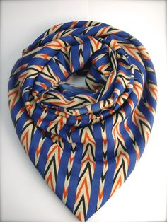 Blue Indiana Scarf