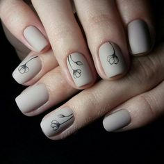 60+ Stylish Nail Designs for 2017. Nail art is another huge fashion trend besides the stylish hairstyle, clothes and elegant makeup for women. Nowadays, there are many ways to have beautiful nails with bright colors, different patterns and styles. Fancy Nails, Neutral Nail Designs, Neutral Nail Art, Grey Nail Art, Elegant Nail Designs, Móng Tay, Gelish Manicure, Manicures, Manicure Ideas