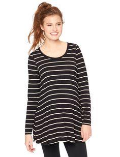 04af37f18e5 Long sleeve v-neck swing maternity shirt by Motherhood Maternity available  at Destination Maternity