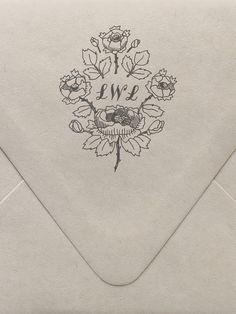 Rose Monogram Custom Stamp