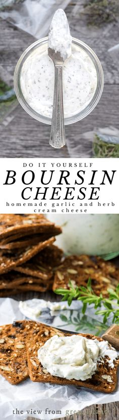My Homemade Boursin Cheese recipe will blow you away, it's perfect for the holidays! Healthy Appetizers, Appetizers For Party, Appetizer Recipes, Party Snacks, Healthy Snacks, Dinner Recipes, Top Recipes, Cheese Recipes, Cooking Recipes