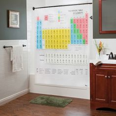 Periodic Table Shower Curtain  @Stacy Moorberg we're getting this for our new apartment, FYI