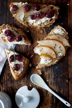 ... Goat's Milk Ricotta on Toast with Roasted Fruits from My New Roots