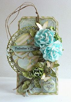 Dorota_mk: Tag - tydzień z Eye i / Tag - Eye i Studio 75 week Flower Cards, Paper Flowers, Blue Flowers, Card Tags, Gift Tags, Valentine Day Cards, Valentines, Shabby Chic Cards, Scrapbooking