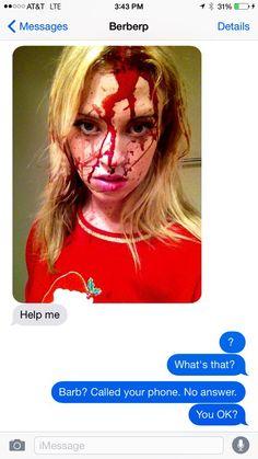 Barbara pranks Burnie was fake blood text