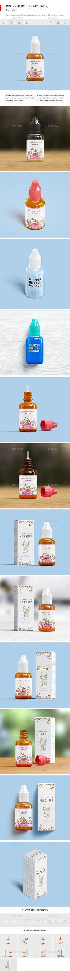 Dropper Bottle Mockup 2 — Photoshop PSD #medical #druggist • Available here → https://graphicriver.net/item/dropper-bottle-mockup-2/17996108?ref=pxcr