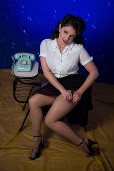 OldSchoolPinUps Blue Starry Night