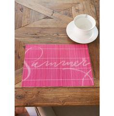 Summer Bamboo Placemat pink - Coming Soon | Rivièra Maison