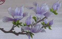 """Chinese handmade silk embroidery art painting 17""""x47"""" Yulan flowers wall decor Suzhou Embroidery needlework from Reliable silk ribbon embroidery suppliers on Suzhou Embroidery"""
