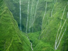 Wall of Tears (Wai'ale'ale Falls), Mount Waialeale, Hawaii