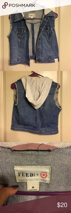 Crop Jean Vest - Never Worn! On a mission to get rid of everything in my Posh closet, plus I have more I haven't even listed!!  *No trades please ❌❌ *15% off bundles of 3 or more 3️⃣ *Willing to negotiate on price 🖊 *Typically ship next day 📍 *Smoke free, pet free home 🏡  *Make me an offer!! *ALL ITEMS IN FANTASTIC CONDITION UNLESS STATED OTHERWISE  Thanks for looking, happy shopping! 🛍🛍 Jackets & Coats Vests
