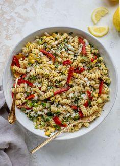 Crab Pasta Salad - Grilled Corn and Crab Pasta Salad...