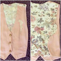 80's floral vest  #vintage