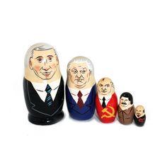 Karikatyyrimaatuskanukke, jossa Putin, Jeltsin, Gorbatshov, Stalin ja Lenin Sissi, Dark Art, Accessories, Jewelry Accessories