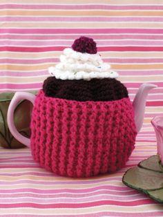 Cupcake Tea Cozy | Yarn | Free Knitting Patterns | Crochet Patterns | Yarnspirations