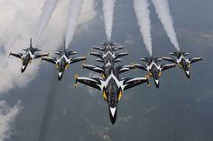 Black Eagles (Korea) - http://londonkoreanlinks.net/2012/07/31/black-eagles-showcase-the-t-50-for-korea-aerospace-industries-at-the-savoy/