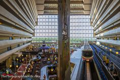 Contemporary Resort Corridor. Check out this photo and video review of the Contemporary at Walt Disney World - I LOVE this resort!