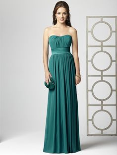 Dessy Collection Style 2860 in jade. bridesmaid dress. fall wedding