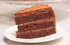 Het recept voor deze chocoladetaart vond ik op 24kitchen (hij heet daar chocolade-fudgetaart) en is van tv-kok Rudolph van Veen. Echt een aanrader!