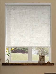 Tranquility Linen Ivory Blackout Roller Blind from Blinds 2go