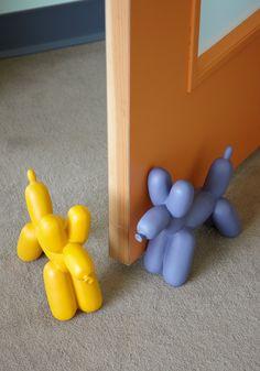 Inflatable balloon dog book ends/door stops
