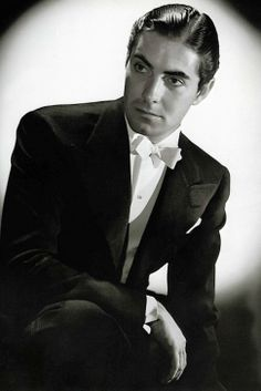 Lets take a Moment to Admire Tyrone Power s Beauty.  Photo taken in 1938 - Alexander's Ragtime Band