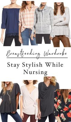 Your Breastfeeding Wardrobe: Tops // A roundup of the most stylish tops to wear while breastfeeding (and when you're not)!