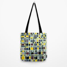 """Our quality crafted Tote Bags are hand sewn in America using durable, yet lightweight, poly poplin fabric. All seams and stress points are double stitched for durability. Available in variations, the tote bags are washable, feature original artwork on both sides and a sturdy 1"""" wide cotton webbing strap for comfortably carrying over your shoulder.  @society6 #art #abstract #modern #contemporary #color #pink #red #yellow #blue #women #men #fashion #style #fun #sweet #cool #awesome"""