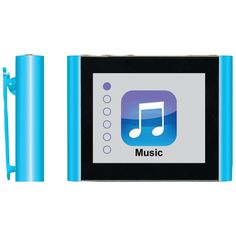 "Eclipse 8gb 1.8"" Mp3 + Video Player (blue)"