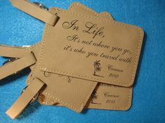 Wedding Favors Embossed Elegance Leather by lovetravelsfavors ...