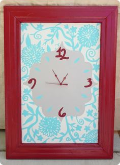 Cabinet Door clock.  The idea is for old cabinet doors but I might do this on the ones I'm still using in the kitchen to save wall space.