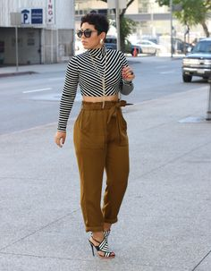 Ecstasy Models — DIY CROPPED TURTLENECK + H&M PANTS [[MORE]] H&M...