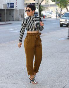 DIY Cropped Turtleneck + H&M Pants - Mimi G Style