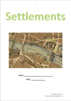 This 13 page booklet allows students to investigate settlements, why they are there, their function, their hierarchy and land use. Land Use, Investigations, Booklet, Environment, Students, Names, Urban, Study
