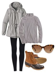 """Bean boots!!!!"" by tcolasante on Polyvore featuring L.L.Bean, Michael Kors, Patagonia and J.Crew"