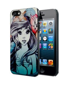 Ariel The Little Mermaid Sketch2 Samsung Galaxy S3 S4 S5 Note 3 Case, Iphone 4 4S 5 5S 5C Case, Ipod Touch 4 5 Case