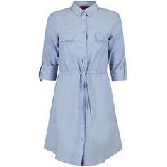 Boohoo Ann Chambray Woven Shirt Dress