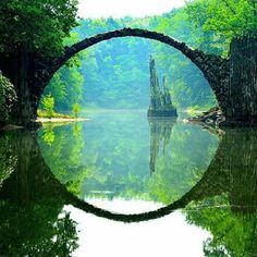Rakotzbrücke (Devil's Bridge), Kromlauer Park, Germany Missed seeing this, next time - MHphoto