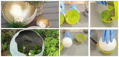 So many possibilities. Papercrete, Steps Design, Concrete Planters, Tea Light Holder, Yard Art, Container Gardening, Tea Lights, Garden Sculpture, Garden Design