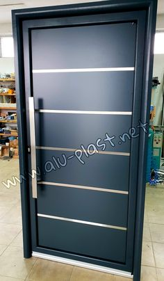 Aluminijumska i PVC stolarija po meri Aluminium Front Door, Lockers, Locker Storage, Garage Doors, Steel, Outdoor Decor, Home Decor, Iron Doors, Doors
