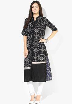 8c76cf52b Buy W Black Printed Kurta Online - 3222891 - Jabong