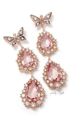 H Stern Rock Season collection Earrings in rose gold with morganites and diamonds (Foto: H Stern)