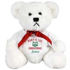 Cute Babys 1st Christmas Gift James Small Plush Teddy Bear * Details can be found by clicking on the image.