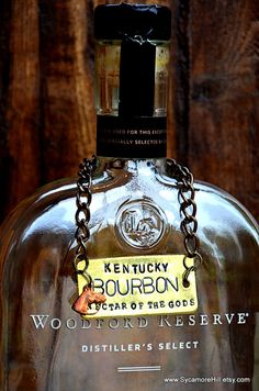 Bourbon Bottle Tag  Kentucky Derby  liquor decanter label Party Hostess by Sycamore Hill, $30.00