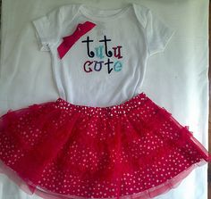 Baby girl Bodysuit  with tutu skirt - infant coming home outfit by EmbroiderybySharon $19.95